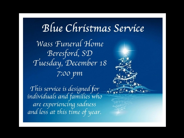 Page Blue Christmas Service